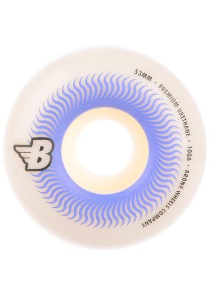 Bronx Wheels Rollen Swirl Regular Shape 100A white vorderansicht 0135127