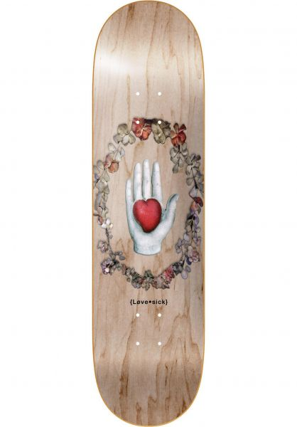 Lovesick Skateboard Decks Wreath Logo natural Vorderansicht