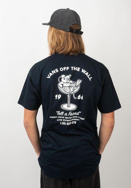 Vans T-Shirts Happy Hour navy vorderansicht 0321101