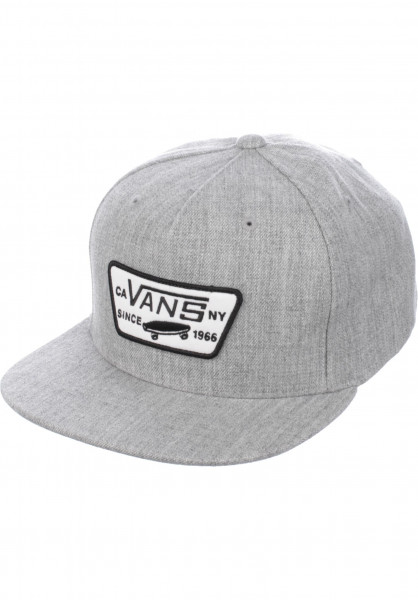 Vans Caps Full Patch Snapback heathergrey Vorderansicht