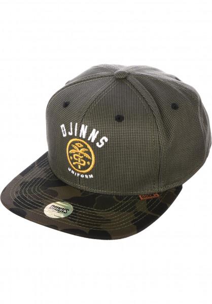Djinns Caps 6P SB Camo Snake woodland Vorderansicht