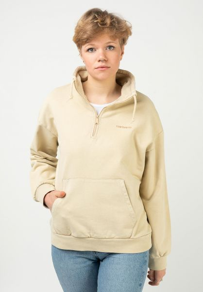 Carhartt WIP Sweatshirts und Pullover W´ Mosby Script Highneck dustyHbrown vorderansicht 0423070