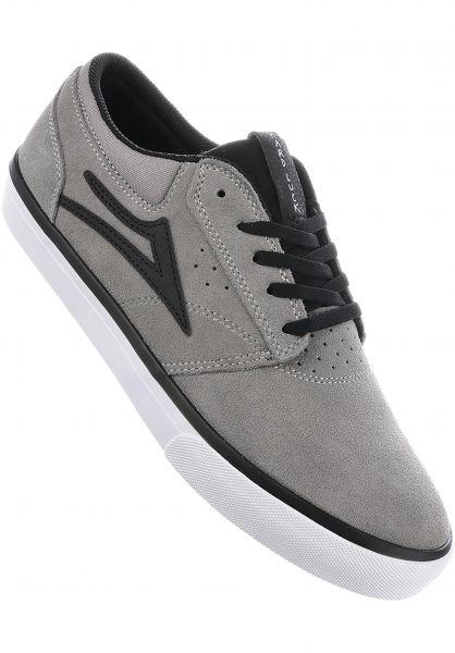Lakai Alle Schuhe Griffin x Hard Luck grey-black Vorderansicht