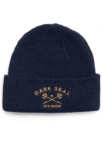 Dark Seas Mützen Cruiser darknavy Vorderansicht