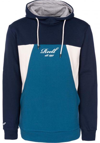 Reell Hoodies Color Block Hood navy-petrol-cream vorderansicht 0445213