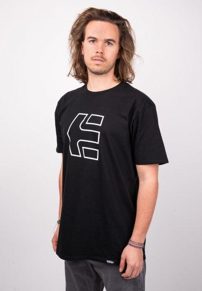 etnies T-Shirts Icon black vorderansicht 0320045