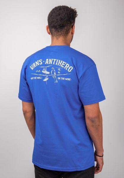 Vans T-Shirts Vans x Anti Hero Wired royalblue vorderansicht 0399884