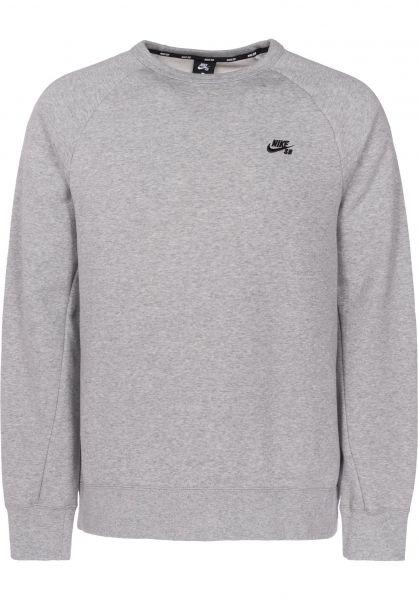 Nike SB Sweatshirts und Pullover SB Icon Crew Fleece darkgreyheather-black Vorderansicht