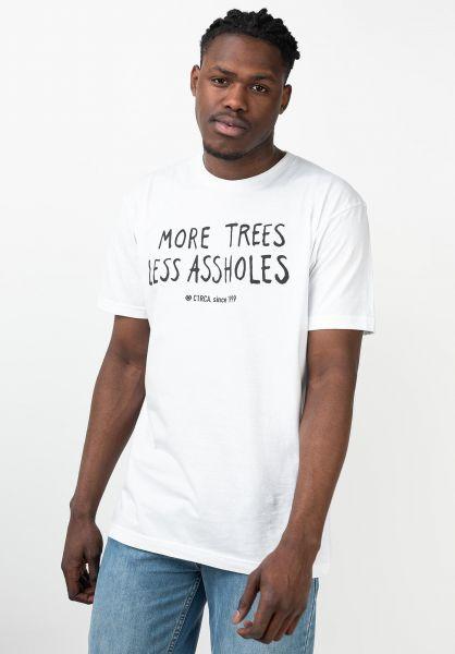 C1RCA T-Shirts Trees white vorderansicht 0321656