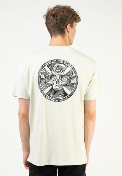 Independent T-Shirts FTS Skull silver vorderansicht 0323209