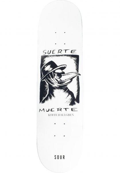 Sour Skateboards Skateboard Decks Hallgren Suerte O Muerte white vorderansicht 0263594