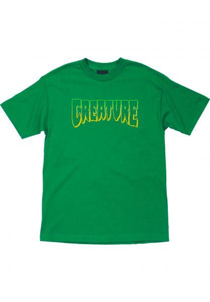 Creature T-Shirts Logo Outline kellygreen vorderansicht 0399126