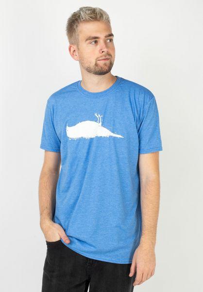 Atticus T-Shirts Bird heatherroyal vorderansicht 0370254