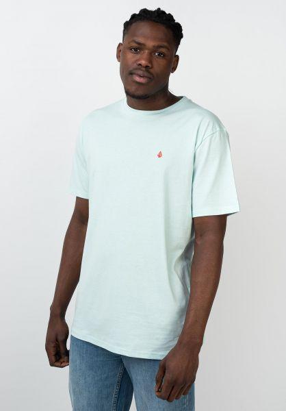 Volcom T-Shirts Stone Blanks resinblue vorderansicht 0321558