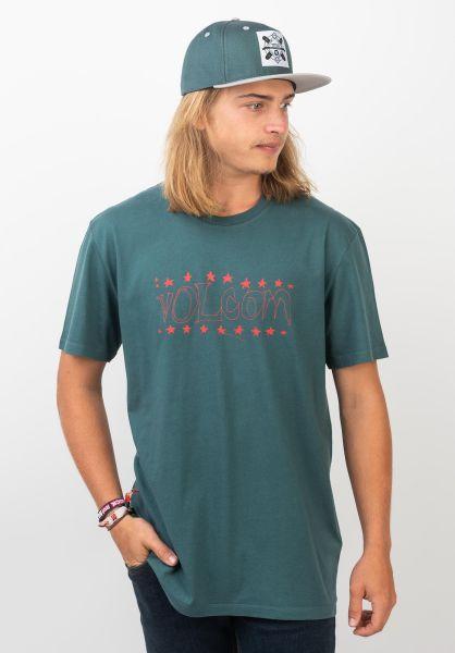 Volcom T-Shirts Sub Bar mediterranean vorderansicht 0320380
