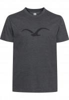 Cleptomanicx T-Shirts Möwe heatherblack-black Vorderansicht