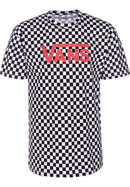 12705c65db Vans T-Shirts Classic black-white-checkerboard vorderansicht 0361788