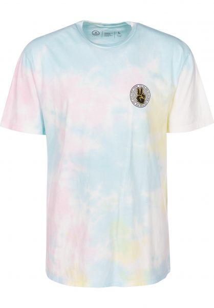 Neff T-Shirts Pastel Wash lemonade-skypink vorderansicht 0399421