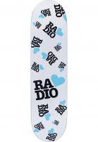 Radio Skateboard Decks Radio Love white Vorderansicht