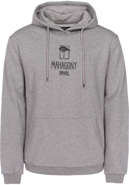 Mahagony Hoodies C.I greymelange vorderansicht 0444512