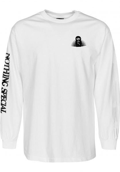 Nothing Special Longsleeves Bearings Mother white vorderansicht 0383119