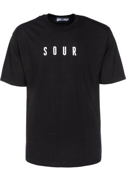 Sour Skateboards T-Shirts Army black Vorderansicht