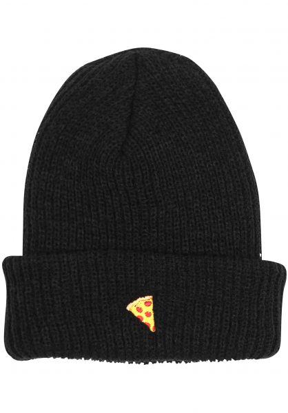 Pizza Skateboards Mützen Emoji black Vorderansicht