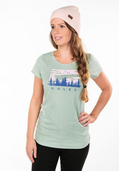 Rules T-Shirts Mirrow frostgreen Vorderansicht 0397411