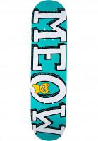 Meow Skateboards Skateboard Decks Logo teal Vorderansicht