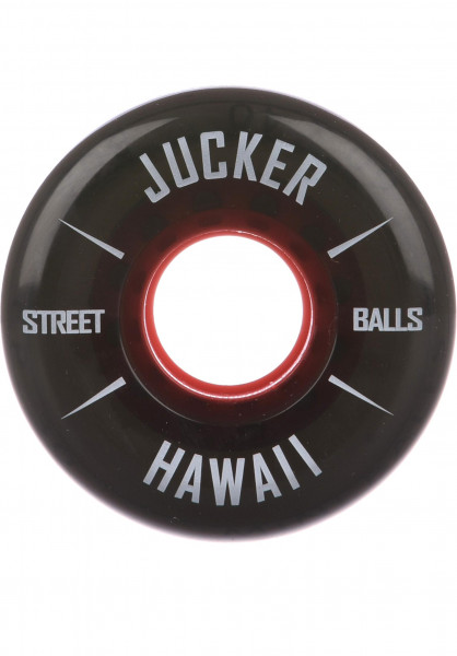 Jucker Hawaii Rollen Mini Balls 80A black Vorderansicht