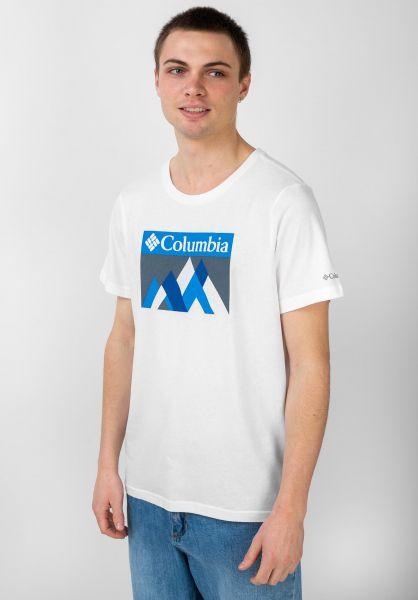 Columbia T-Shirts Alpine Way white-peakfun vorderansicht 0321493