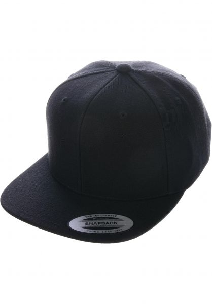Flexfit Caps Snapback Cap black vorderansicht 0566389