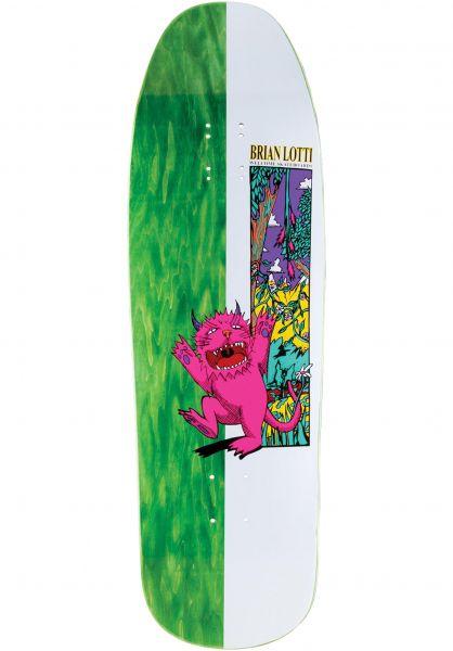 Welcome Skateboard Decks Brian Lotti Wild Thing Gaia white-various stains vorderansicht 0263553