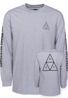 HUF Longsleeves Triple Triangle grey Vorderansicht