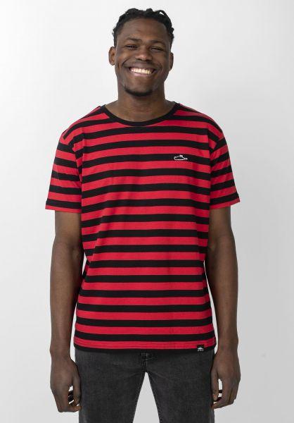 Atticus T-Shirts Frame Stripe black-red vorderansicht 0321486