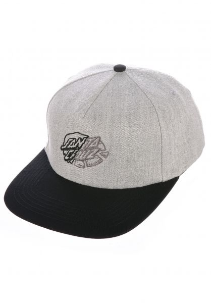 Santa-Cruz Caps Universal Dot grey-black vorderansicht 0566940