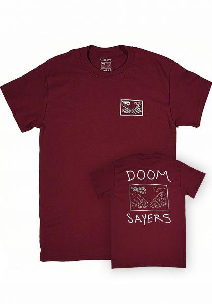 Doomsayers T-Shirts Snake Shake burgundy Vorderansicht