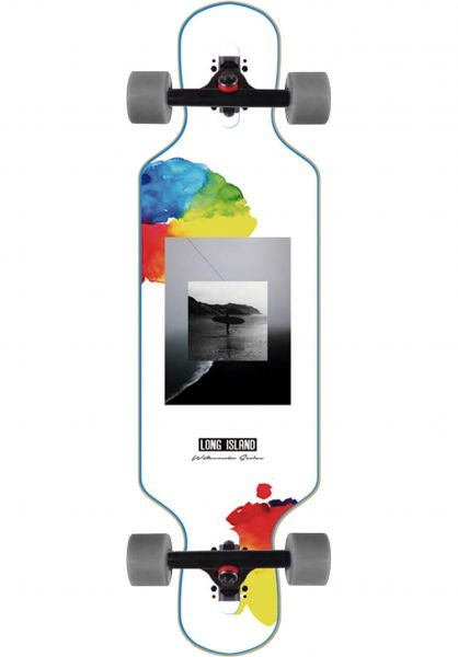 Long Island Longboards komplett Watercolor 32.85´´ Mini DT white vorderansicht 0194310