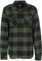Dickies Hemden langarm Sacramento W pinegreen Vorderansicht