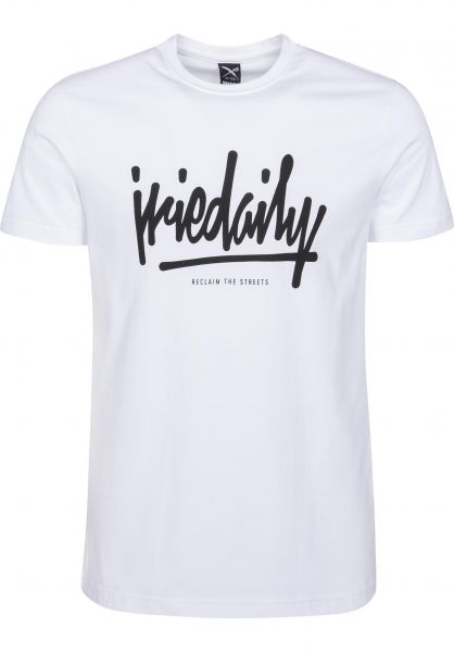 iriedaily T-Shirts Tagg Ahead white Vorderansicht