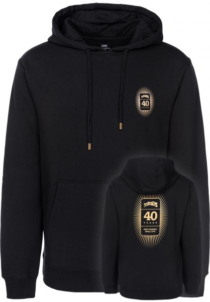 TITUS Hoodies 40-Years-Backprint black vorderansicht 0444839