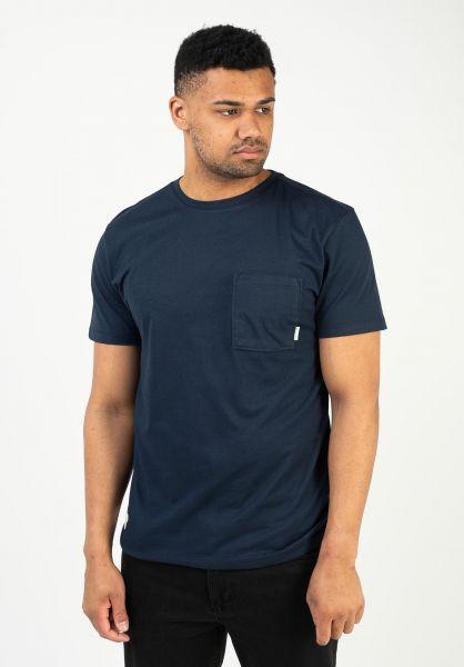 Mazine T-Shirts Burwood navy vorderansicht 0322281