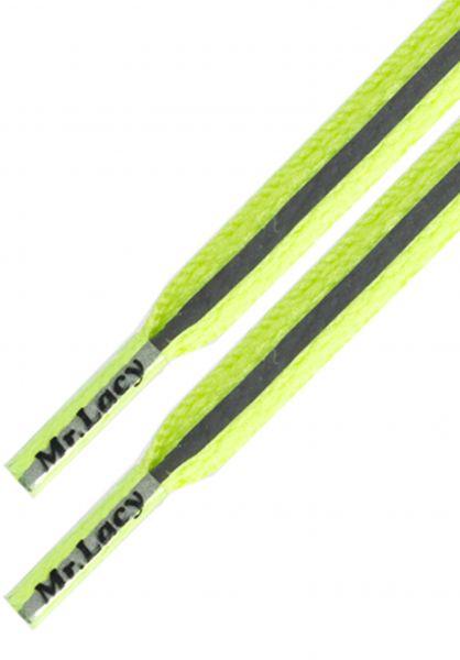 Mr. Lacy Schnürsenkel Runnies Reflective neon-lime-yellow vorderansicht 0640033