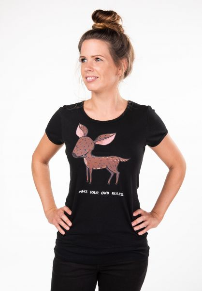 Rules T-Shirts My Bambi black vorderansicht 0397408
