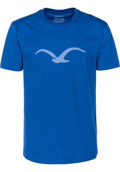 Cleptomanicx T-Shirts Möwe nauticalblue vorderansicht 0361321