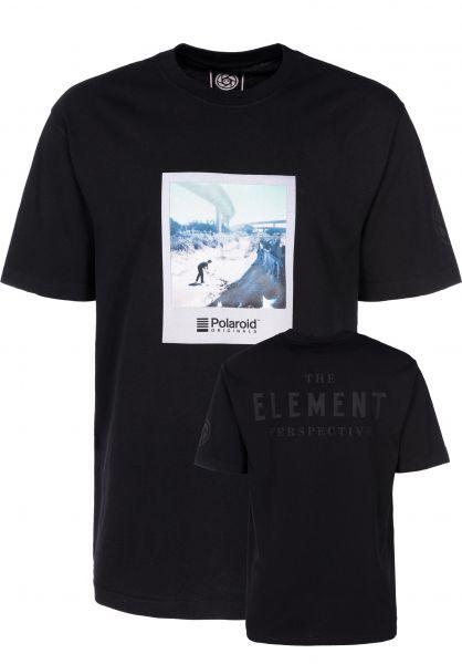 Element T-Shirts Nassim x Polaroid flintblack vorderansicht 0398871