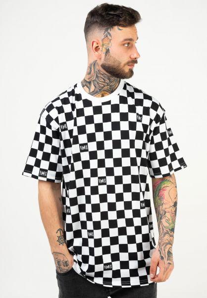 Vans T-Shirts Kyle Walker Checker black-white vorderansicht 0322942