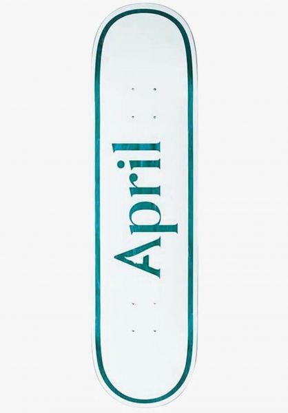 April Skateboards Skateboard Decks OG Logo white-blue vorderansicht 0266691