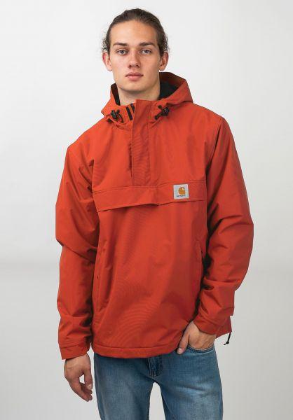 Carhartt WIP Winterjacken Nimbus Pullover Winter brickorange vorderansicht 0122070
