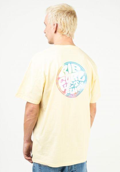 Rip Curl T-Shirts Wetty Party paleyellow vorderansicht 0323561